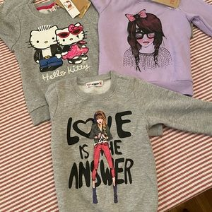 NWT Set of 3 girl sweaters (including hello kitty)
